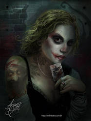 Joker Girl by andrebdois
