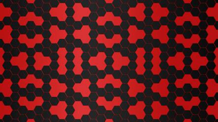 Black Red Hexagon 5K Wallpaper by RV770