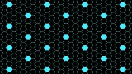 Blue Hexagon Dots 5K Wallpaper by RV770