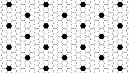 Black Hexagon Dots 5K Wallpaper by RV770