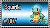 007 - Squirtle by PokeStampsDex