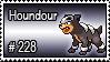 228 - Houndour by PokeStampsDex