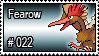 022 - Fearow by PokeStampsDex