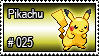 025 - Pikachu by PokeStampsDex