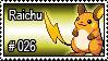 026 - Raichu by PokeStampsDex