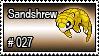 027 - Sandshrew by PokeStampsDex