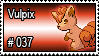 037 - Vulpix by PokeStampsDex