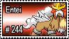 244 - Entei by PokeStampsDex