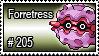 205 - Forretress by PokeStampsDex