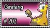 203 - Girafarig by PokeStampsDex