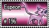 196 - Espeon by PokeStampsDex