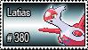 380 - Latias by PokeStampsDex