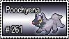 261 - Poochyena by PokeStampsDex