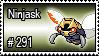 291 - Ninjask by PokeStampsDex