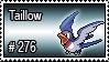 276 - Taillow by PokeStampsDex