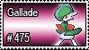 475 - Gallade by PokeStampsDex