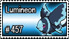 457 - Lumineon by PokeStampsDex