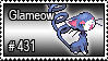431 - Glameow by PokeStampsDex