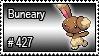 427 - Buneary by PokeStampsDex