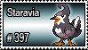 397 - Staravia by PokeStampsDex