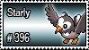 396 - Starly by PokeStampsDex