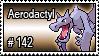 142 - Aerodactyl by PokeStampsDex