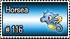 116 - Horsea by PokeStampsDex