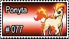 077 - Ponyta by PokeStampsDex