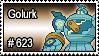 623 - Golurk by PokeStampsDex