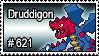 621 - Druddigon by PokeStampsDex