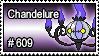 609 - Chandelure by PokeStampsDex