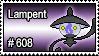 608 - Lampent by PokeStampsDex