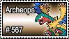 567 - Archeops by PokeStampsDex