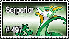497 - Serperior by PokeStampsDex