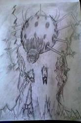 giant spider by BndDigis