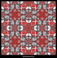 Jackalope Kaleidoscope by IceandSnow