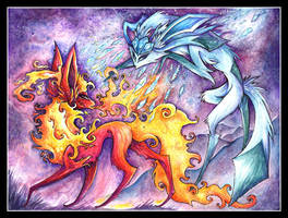 Fire and Ice by IceandSnow