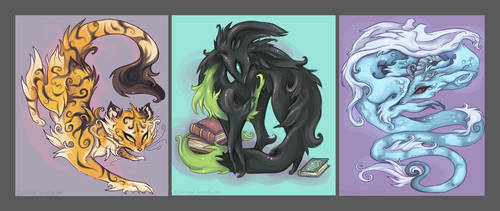 Bag commish- designs by IceandSnow