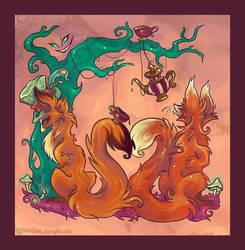 Foxes in Wonderland by IceandSnow