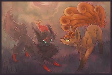Little fox pokemon by IceandSnow