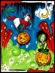 Riding Pumpkins by Bloodyangelrose