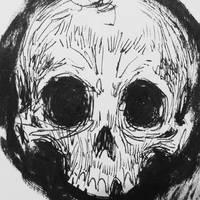 Skull sketch  by BRiZL