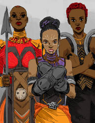 The ladies of Black Panther by BRiZL