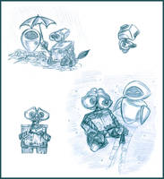 WALL-E sketches by Lilostitchfan
