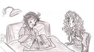 Julia and Elroy sketch by Lilostitchfan