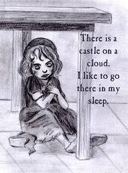 There is a castle on a cloud.. by Lilostitchfan