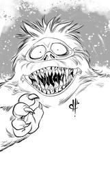 Monstober 2016 25 Abominable Snowman by davehamann