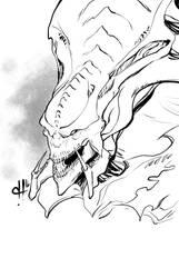 Monstober 2016 19 Hydra by davehamann