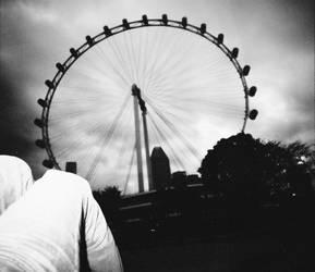 Lomo - eye of singapore by Juls-Indera