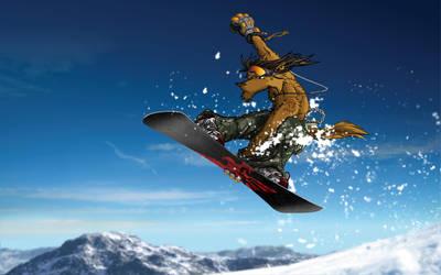 Summer Snowboarding 2006 by krhainos